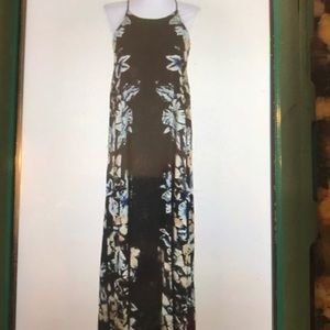Free People maxi open side dress